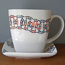 SALE END OF RANGE Square Mug And Saucer