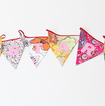 Personalised Bunting Appliqué 5 Metres In Brights