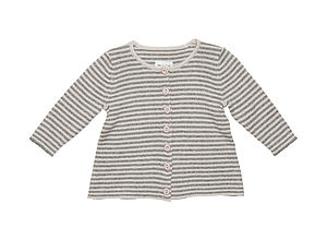 Striped Baby Benitte Cardigan - clothing