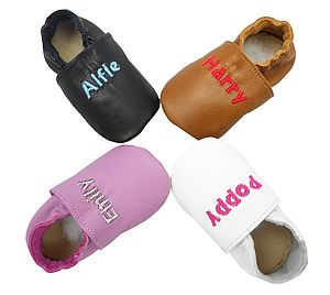 Personalised Mix 'N' Match Leather Baby Shoes