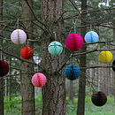 Set Of 12 Paper Ball Decorations