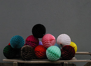 Set Of 12 Paper Ball Decorations - outdoor decorations