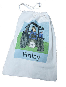Personalised Tractor Shoe Bag