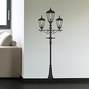 Traditional Lamp Post Vinyl Wall Sticker - wall stickers