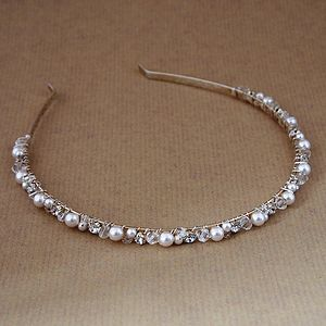 Pearl And Diamante Bridal Headband - wedding fashion