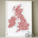 UK And Ireland Symbol Map Print