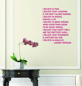 Audrey Hepburn Quote Wall Sticker - home accessories