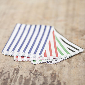 Coloured Striped Candy Bags - party bags and ideas