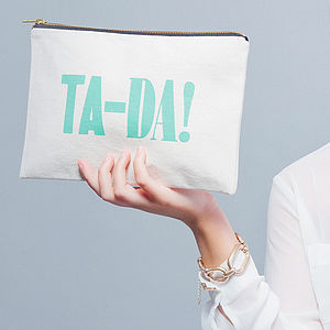 'Ta-Da!' Canvas Pouch - bags & purses