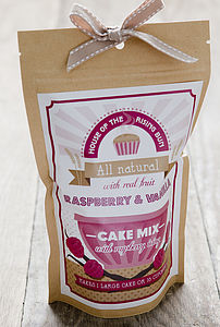 Raspberry & Vanilla Cake Mix - stocking fillers under £15