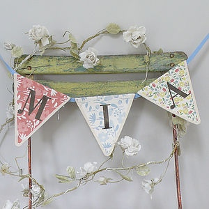 Personalised Alphabet 'Letter' Bunting - bunting & garlands