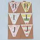 Sale Personalised Alphabet 'Letter' Bunting