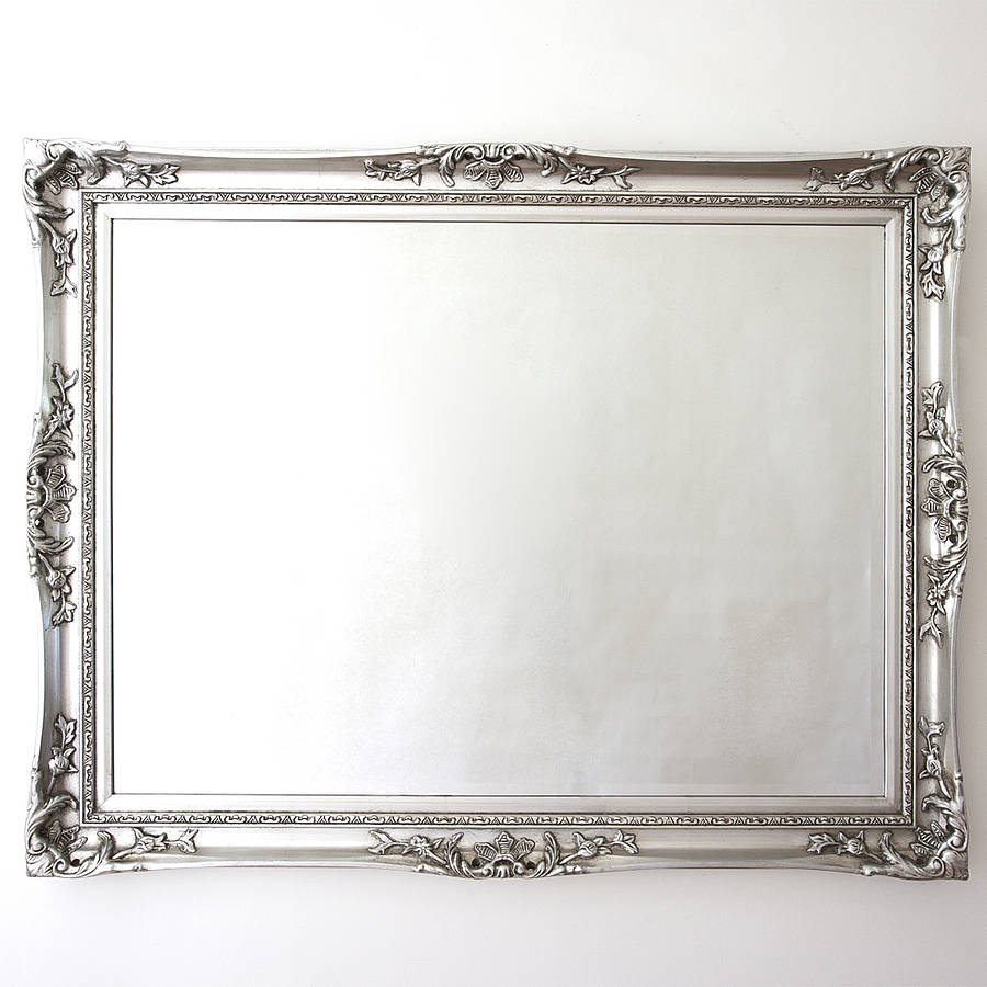 Elegant silver mirror by decorative mirrors online for Fancy mirror