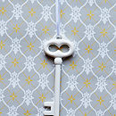 Set Of Five Porcelain Key Decorations
