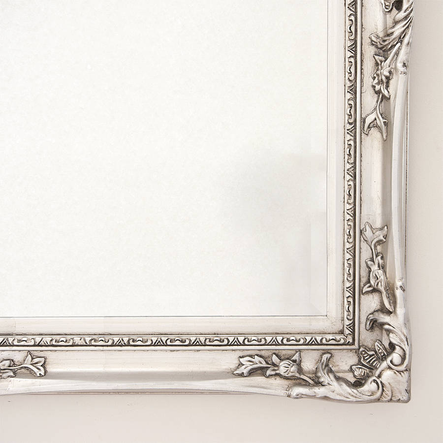 Elegant silver mirror by decorative mirrors online for Large silver decorative mirrors