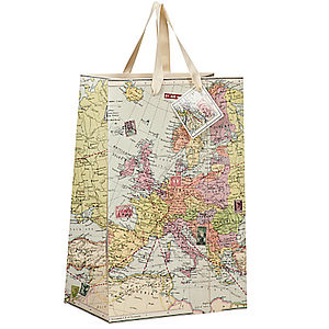 Vintage Map Inspired Gift Bags - wrapping