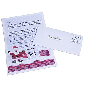 Personalised Letter From Santa - advent calendars & countdowns