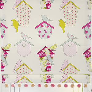 Birdboxes Roman Blind - soft furnishings