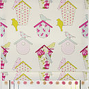 Birdboxes roman blind in Sorbet