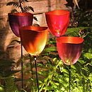 Pink Tulip Tealight Holder/Birdfeeder