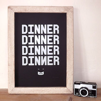 Dinner Dinner Kitchen Print