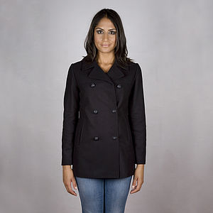 40% Off Navy Classic Wool Blend Reefer Jacket - jackets & coats
