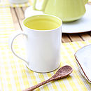 Union Tea Mug, Yellow and White