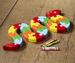 Wooden Alphabet Puzzle - traditional toys & games