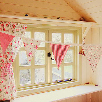 Pink Girls Gingham And Floral Bunting