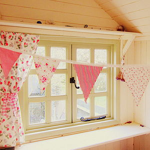 Pink Girls Gingham And Floral Bunting - children's parties