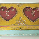 Embossed Heart Wooden Box