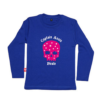 Girl's Personalised Pirate T Shirt