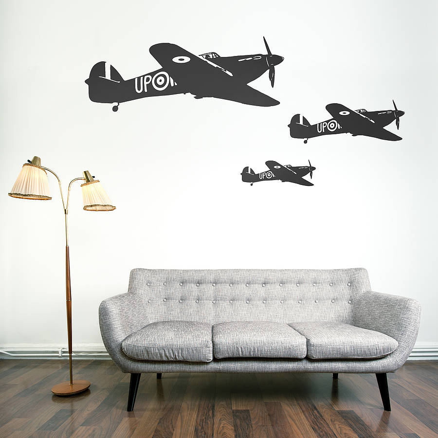 hawker hurricane vinyl wall sticker by oakdene designs. Black Bedroom Furniture Sets. Home Design Ideas