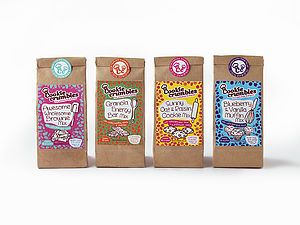 Selection Of Four Healthy Baking Mixes - cakes & treats