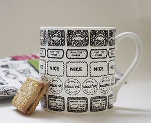 Illustrated Biscuit Block Mug
