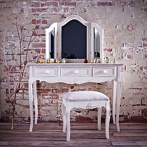 Brittany Mirror Dressing Table And Stool