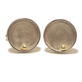 Closed Circle Gold Ball Cufflinks