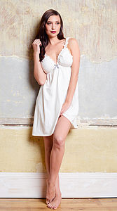 Amaryllis Organic Nightie And Knicker Set - lingerie & nightwear
