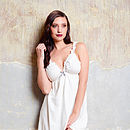 Amaryllis Organic Nightie And Knicker Set
