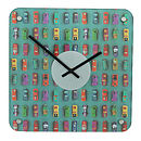 Interchangeable Toy Car Wall Clock