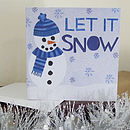 Snowman Illustrated Christmas Card