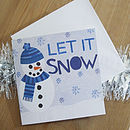 Snowman Christmas card with envelope