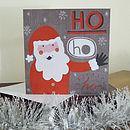 Santa Illustrated Christmas Card