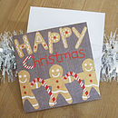 Gingerbread Christmas card with envelope