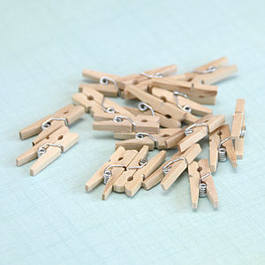 Mini Wooden Pegs - bathroom