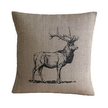 Vintage Deer Cushion Cover