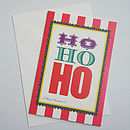 'Ho Ho Ho' Christmas Greeting Card