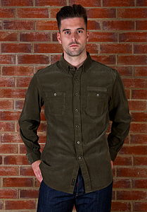 Men's Corduroy Casual Shirt - shirts