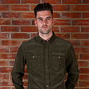 Men's Khaki Corduroy Shirt