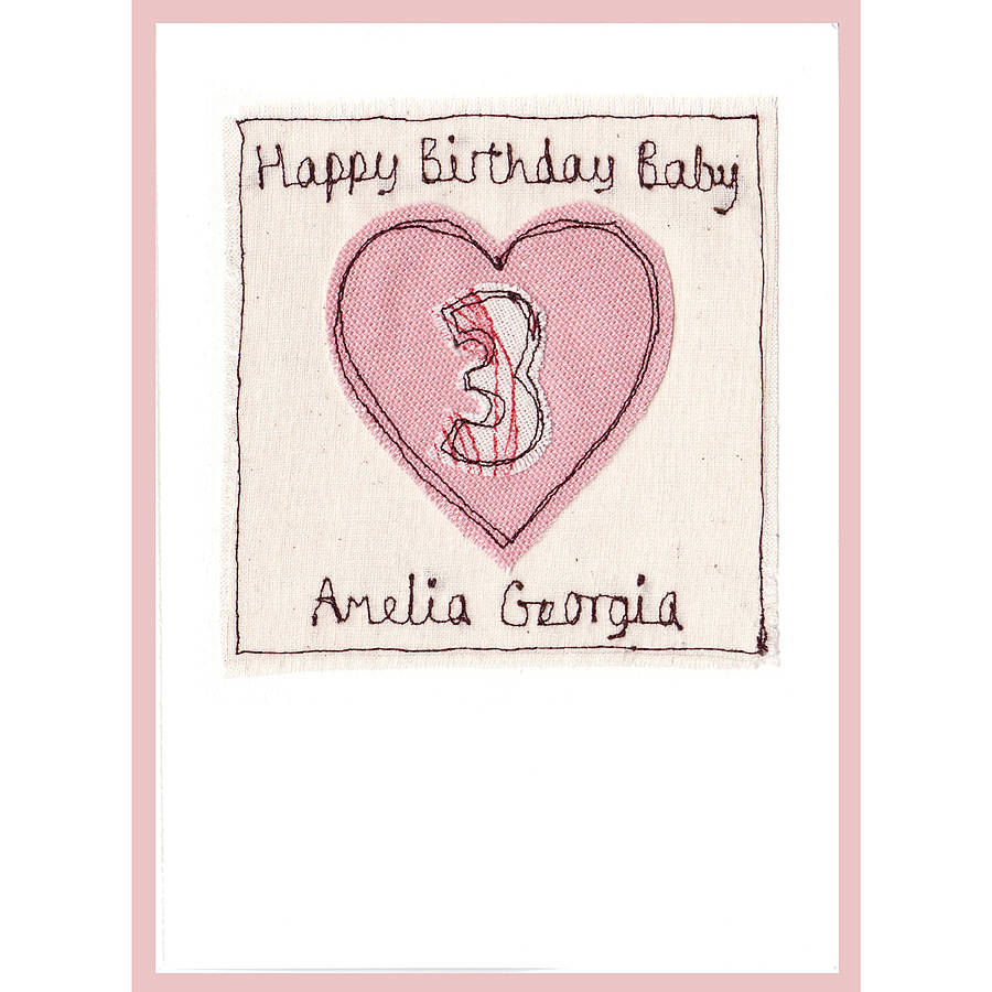 personalised heart age birthday card by milly and pip – Birthday Cards Girls